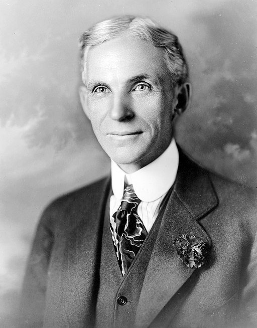 Black-and-white Henry Ford portrait from 1919