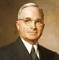 Presidential portrait of Harry Truman in 1945